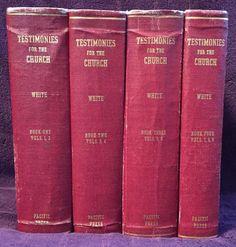 Testimonies for the Church 4 Volumes Ellen G White 1948 Red Canvas Cloth SDA EGW