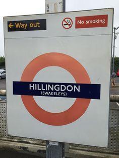 Hillingdon London Underground Station in Hillingdon, Greater London