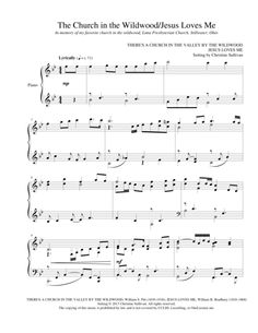 The Church in the Wildwood with Jesus Loves Me - Piano Sheet Music Arrangement. Bring smiles to children and grandparents alike with this sweet, nostalgic hymn medley for solo piano. An all-time top-seller, it's a favorite for church services, nursing home ministries, and recitals. Visit Sheet Music Plus to get your copy of this popular downloadable score. (affiliate link)