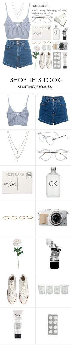 """04:08 p.m // take me out to eat at the true love café. ♡"" by trash90sclub ❤ liked on Polyvore featuring beauty, Chicnova Fashion, Pull&Bear, Eva Fehren, Wildfox, Club Monaco, Calvin Klein, Aesop, Converse and Tocca"