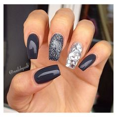 16 Most Gorgeous Grey Nail Ideas ❤ liked on Polyvore featuring beauty products and nail care