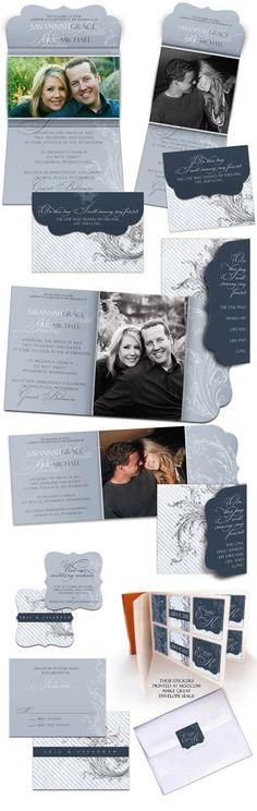WEDDING DESIGN  - Wings of Love - Wedding Invitation Set - Digital Templates for Photographers ETSY