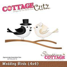 CottageCutz Wedding Birds (4x4)