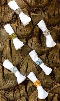 Gehäkelte Serviettenringe Napkin Rings, Etsy, Knitting, Crochet, Knitting And Crocheting, Model, Pattern, Crochet Hooks, Tricot