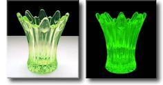 Vaseline Glass / Uranium Glass Vase - Sowerby - c.1930