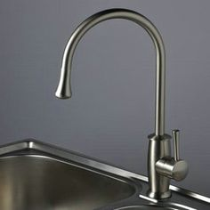 Nickel Brushed Single Handle Kitchen Faucet T1702S