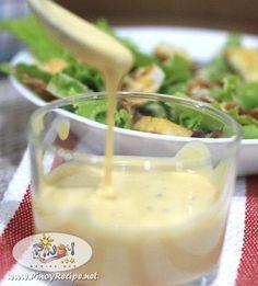 Caesar Salad Dressing Recipe  http://www.pinoyrecipe.net/caesar-salad-dressing-recipe/ #FilipinoRecipesPortal #PinoyRecipe