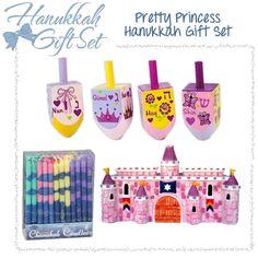 Princess Menorah & Dreidel for Hanukkah from Traditions Jewish Gifts - mazelmoments.com