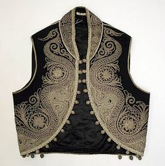 Early 20th century embroidered Turkish mans vest metmuseum