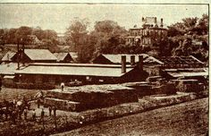 The Cisler Brick Works complex was across Putnam from the Marietta Chair Company, where the YMCA and Frontier Shopping Center are today. It occupied about 25 acres. Established in 1858, the company turned out about 25,000 bricks a day! You can still see Cisler bricks all over town. This photo is from about 1900.