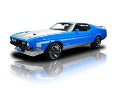 1971 Ford Mustang Boss 351 1971 Ford Mustang, Blue Mustang, Ford Mustang Shelby Cobra, Mustang Fastback, Mustang Cars, Ford Mustangs, Custom Muscle Cars, Ford Lincoln Mercury, Pony Car