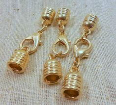 Plated Endcaps with Lobster Clasp Assembly 3 Kumihimo by Ferrera, $3.95