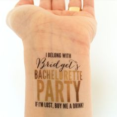 15 Custom Bachelorette Party Temporary Tattoos Glam by LoveAndLion