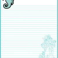 Printable Monster High Lagoona Blue Paper - FreePrintable.com