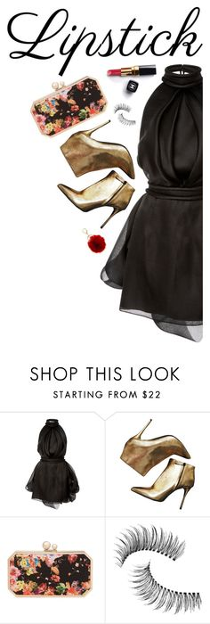 """""""Fall Beauty: Red Lipstick"""" by anaiara ❤ liked on Polyvore featuring beauty, Brandon Maxwell, Alexander McQueen, Chanel, Franchi, Trish McEvoy and BP."""