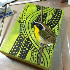 Was able to knock out one more before sleep!  #art #birds #painting #nature #wildlife