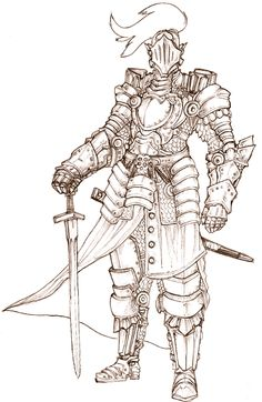 If this is a Half plate armor, imagine how a Full Plate armor would look like! I just love making armors esta es una Armadura de placas intermedia, imag. half plate suit of armor Medieval Knight, Medieval Armor, Medieval Fantasy, Fantasy Character Design, Character Design Inspiration, Character Art, Character Creation, Armadura Medieval, Armor Concept