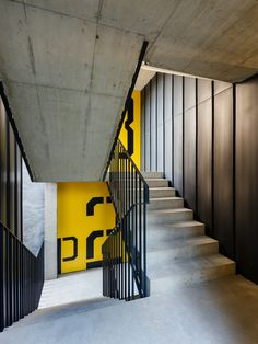 Office Interior Design, Office Interiors, Interior Styling, Industrial Stairs, Architecture Concept Drawings, Stair Railing, Railings, Wayfinding Signage, Gym Design