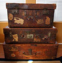 Leather Suitcase, Brass, Flite 69, Dominion Luggage, Irish Linen ...