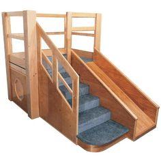 Strictly for Kids Premier Deluxe Adventurer 5 Toddler Loft - Indoor Play Equipment at Hayneedle