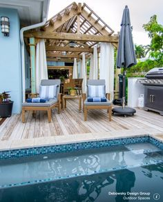 Pool right off deck  By Debowsky Design Group
