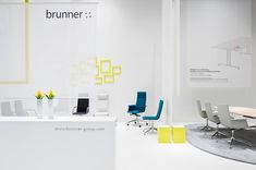 Brunner – Orgatec 2010, Fair stand. Spatial graphics, print design, signage and typographic installations. Design for and with IppolitoFleitz Group, Stuttgart – ifgroup.org