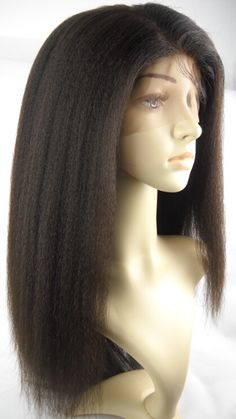 Italian yaki silk top bleached knots Full lace wigs for Black women Black Girls Hairstyles, Wig Hairstyles, Straight Hairstyles, Hairstyle Ideas, Lace Front Wigs, Lace Wigs, Crochet Braids For Kids, Kinky Straight Wig, Hair Images