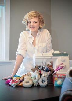 Thanks, Emily for making such adorable baby toys from felt. Learn all about how Emily started her business when she was pregnant with her baby girl. On our blog.