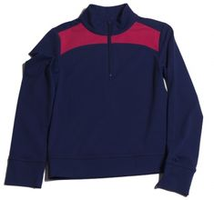 Unique, Pretty Colors are the highlight of the Turtles & Tees ladies golf collection just like this Navy/Berry Accent Turtles & Tees Junior Girls Alyssa 1/4 Zip Pullover!