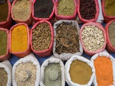 Spices and Pulses in Market, Manakha, Sana'a Province, Yemen Photographic Print