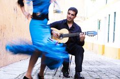 Spanish Flamenco dancer and guitarist. by Hugh Sitton - Stocksy United Flamenco Dancers, Tie Dye Skirt, Harem Pants, Spanish, The Unit, Stock Photos, Image, Fashion, Moda