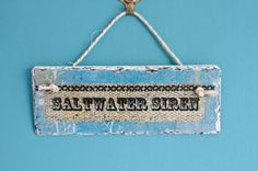 Lovely depcoupage slate hanging for your home. www.surfgirlbeachboutique.com