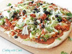 Tostada Pizza with Cornmeal Crust