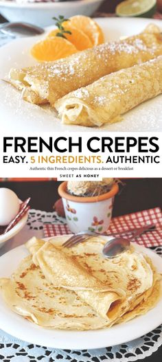 Easy crepe recipe an authentic french crepe recipe with only 6 ingredients. A delicious thin pancake recipe, chewy, sweet and perfect with any crepe filling French Crepes Recipe Easy, Authentic French Crepes Recipe, Sweet Crepes Recipe, Easy Crepe Recipe, Crepe Recipes, Crepe Recipe For One, Crepe Pancake Recipe, Dessert Crepe Recipe, Pudding