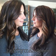 """#colormelt #balayage #redken #hairbymandeeee #curlyhair"""