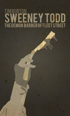 Sweeney Todd (50 Minimalist Movie Posters)