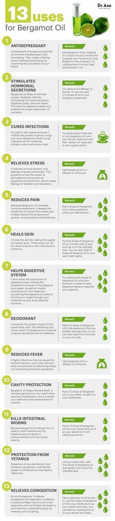 13 Bergamot Oil Uses draxe.com #health #holistic #natural