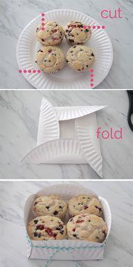 Papieren bordje muffin bakje