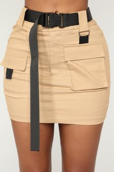 Heavy Cargo Mini Skirt – Camel, You can collect images you discovered organize them, add your own ideas to your collections and share with other people. Cute Swag Outfits, Classy Outfits, Pretty Outfits, Stylish Outfits, Tan Skirt Outfits, Moda Outfits, Grunge Outfits, Flowy Summer Dresses, Camo Skirt