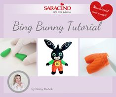 BING BUNNY TUTORIAL | Saracino Cake Topper Tutorial, Fondant Tutorial, Fondant Figures, Bing Cake, Bing Bunny, Color Dust, Fondant Toppers, Cylinder Shape, Cake Decorating Techniques