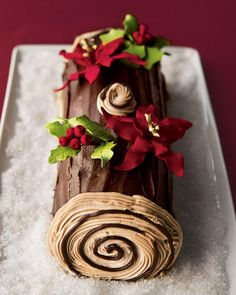 Tootie Pie Company Buche de Noel Yule Log Cake, For People Holiday Cakes, Christmas Desserts, Christmas Treats, Christmas Baking, Christmas Cakes, Xmas Cakes, Christmas Cake Decorations, Mini Cakes, Cupcake Cakes