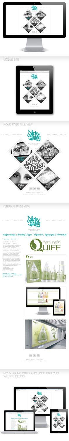 Personal Portfolio Website by Nicky Young, via Behance #web #blog #design