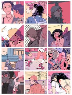 cropped summary of some work i've done this year that i've liked, it's mostly pink