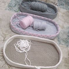 The most beautiful Crochet basket and straw models Diy Crochet Basket, Crochet Basket Pattern, Crochet Baby, Free Crochet, Crochet Patterns, Hat Crochet, Baby Moses, Baby Baskets, Moses Basket