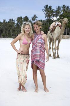 Alice and Olivia gettin inspiration on Diani Beach www.lalesso.com