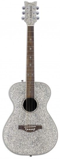 Pixie Acoustic - Silver Sparkle • • • $219.95 • • • The Pixie Acoustic guitar is a full scale instrument designed especially for girls. This dazzling sparkle-finished guitar is lightweight and it sounds great! • • • Daisy Rock Girl Guitars® and DRG®
