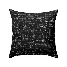 Let's take this mathematical masterpiece to the bedroom—or the armchair. With a cool, slightly retro design ripped from the blackboard of your old physics lecture hall, this pillow is a plus for the ne...  Find the Get Physical Throw Pillow, as seen in the #ChalkitUp Collection at http://dotandbo.com/collections/chalkitup?utm_source=pinterest&utm_medium=organic&db_sku=104610