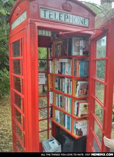 Just your friendly village book booth.