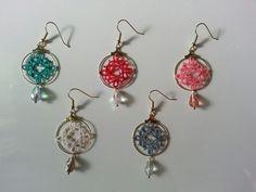 Tatted earrings like chandelier