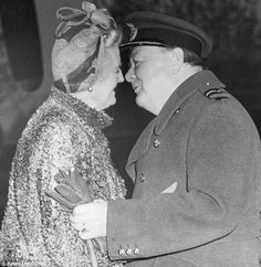 """Winston and Clementine Churchill, They had a good marriage. Churchill was a family man, cherished his wife and adored his children. He spent """"quality time"""" with each of them. A close family. Churchill Quotes, Winston Churchill, Clementine Churchill, British History, Asian History, Tudor History, Ancient History, Star Wars, Second World"""